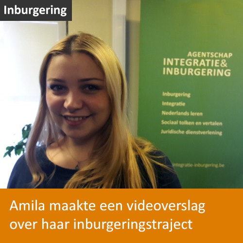 Knop. Amila maakte een videoverslag over haar inburgeringstraject