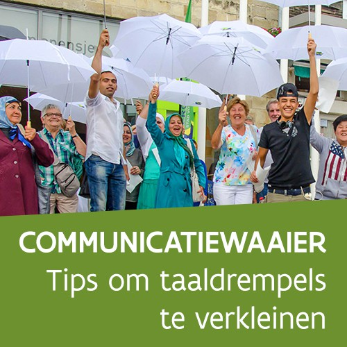 Knop. Download de communicatiewaaier.