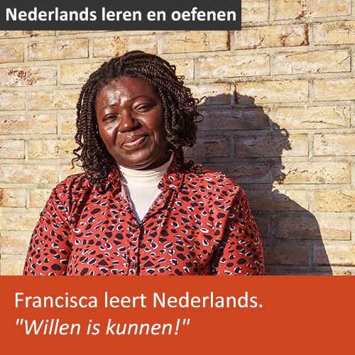 Knop. Lees het interview met Francisca uit Nigeria, die Nederlands leert