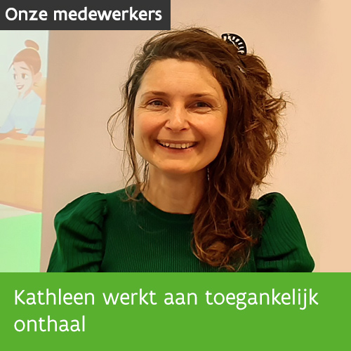 Knop. Lees het interview met consulent integratie Kathleen over toegankelijk onthaal.