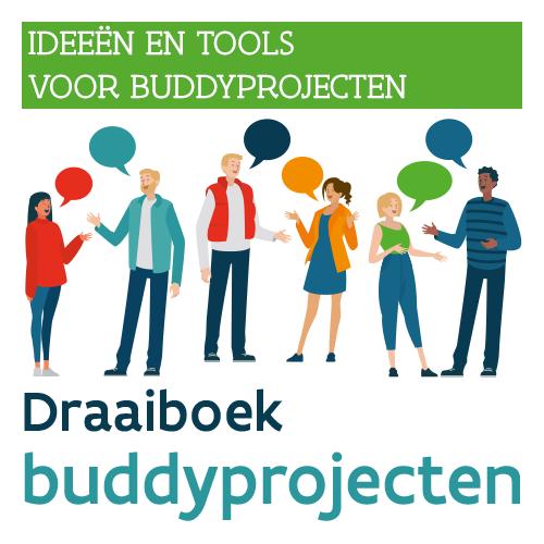 Knop. Download het Draaiboek buddyprojecten.