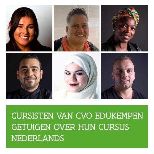 Knop. Cursisten van CVO EduKempen getuigen over hun cursus Nederlands.