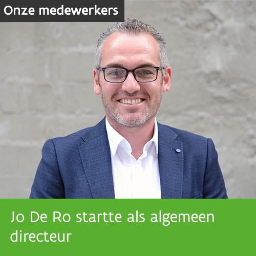 Knop. Jo De Ro startte als algemeen directeur.