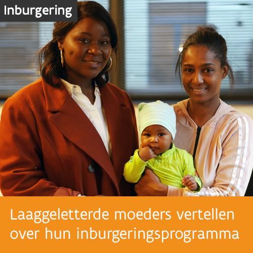 Knop. Lees de getuigenissen van drie laaggeletterde moeders over hun inburgeringsprogramma