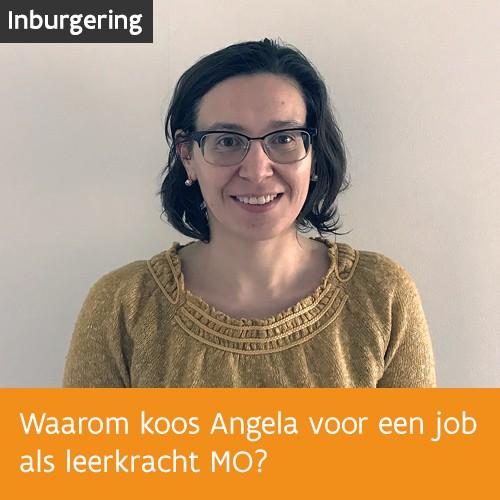 Knop. Lees het interview met leerkracht maatschappelijke oriëntatie Angela Catirau.