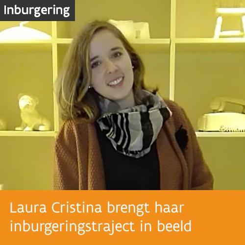 Knop. Bekijk het fotoverslag van het inburgeringstraject van Laura Cristina